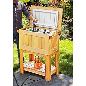 Cooler Stand Woodworking Plan, Outdoor Outdoor Accessories