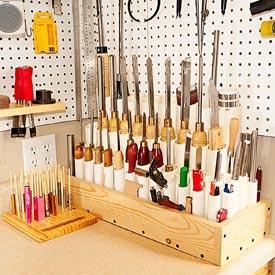 Stand-up Tool Storage Woodworking Plan, Workshop & Jigs Shop Cabinets, Storage, & Organizers Workshop & Jigs $3 Shop Plans
