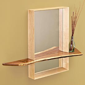 Mirror with Shelf Woodworking Plan, Furniture Mirrors