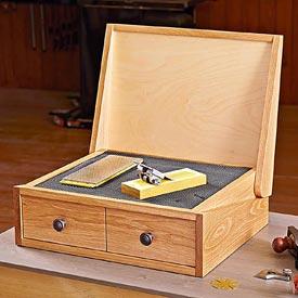 Sharpening Station Woodworking Plan, Workshop & Jigs Shop Cabinets, Storage, & Organizers