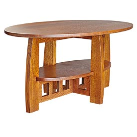 Limbert-style Coffee Table Woodworking Plan, Furniture, Tables