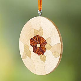 Scrollsawn Flower Medallion Ornament