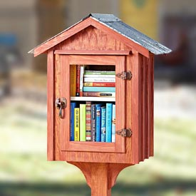 Neighborhood Book Nook Woodworking Plan, Outdoor Outdoor Accessories