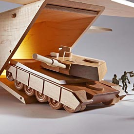 Mil-Spec M1A1 Abrams Tank Woodworking Plan, Toys & Kids Furniture