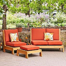 Easy-chairs Patio Set Woodworking Plan, Outdoor Outdoor Furniture