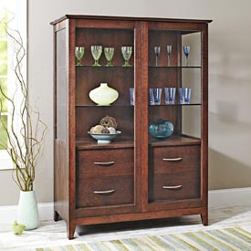 Sliding-door Curio Cabinet Printed Plan