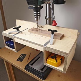 Do-it-all Drill-press Table Woodworking Plan, Workshop & Jigs Jigs & Fixtures