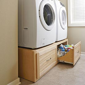 Stack-on Washer/dryer Stand Woodworking Plan, Furniture Cabinets & Storage