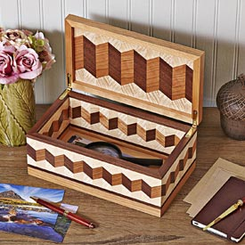 Zigzag Box Woodworking Plan, Gifts & Decorations Boxes & Baskets