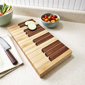 Keyboard Cutting Board Woodworking Plan, Gifts & Decorations Kitchen Accessories
