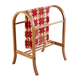 Curvaceous Quilt Rack Woodworking Plan, Furniture Quilt Displays