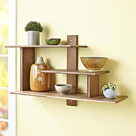 Modern Wall Shelf Woodworking Plan, Furniture Bookcases & Shelving