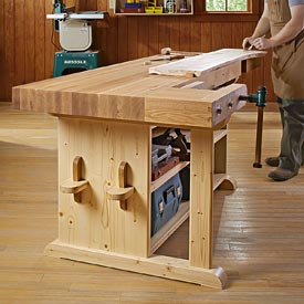 Make-a-statement Workbench Woodworking Plan, Workshop & Jigs Workbenches