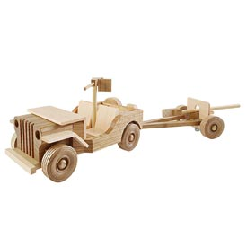 Mil-spec Jeep and 37mm Gun Woodworking Plan, Toys & Kids Furniture