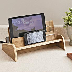 Charging Station Woodworking Plan, Gifts & Decorations Office Accessories