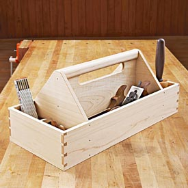 Heirloom Tool Tote Woodworking Plan, Workshop & Jigs Shop Cabinets, Storage, & Organizers
