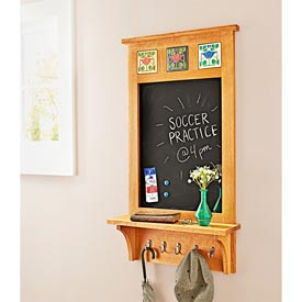Family Message Center Woodworking Plan, Gifts & Decorations Office Accessories Furniture Bookcases & Shelving