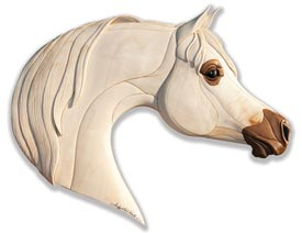 Arabian Horse Intarsia Pattern, Woodworking Plan, Gifts & Decorations, Scrollsaw, Carving, & Decorative Projects, Intarsia