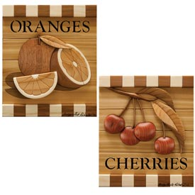 Cherries & Oranges Intarsia Pattern, Woodworking Plan, Gifts & Decorations, Scrollsaw, Carving, & Decorative Projects, Intarsia