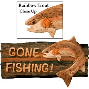 Rainbow Trout Intarsia Pattern