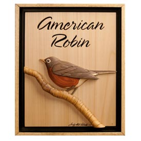American Robin Woodworking Plan, Gifts & Decorations Scrollsaw, Carving, & Decorative Projects