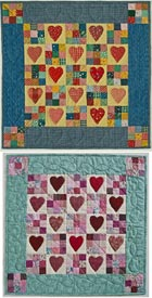 Hearts Delight Pattern Table Toppers Valentines Day Quilts  American Patchwork & Quilting