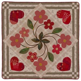 Hearts and Flowers Pattern Wall Quilts Valentines Day Quilts  American Patchwork & Quilting