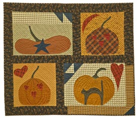 Folk Art Pumpkins Pattern Wall Quilts Fall Quilts Halloween Quilts American Patchwork & Quilting