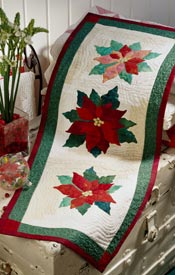 Poinsettia Table Runner Pattern Table Toppers Christmas Quilts  American Patchwork & Quilting