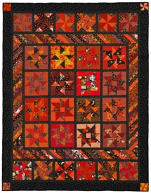 Pumpkin Patchwork Pattern Throws Halloween Quilts  American Patchwork & Quilting