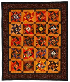 Harvest Moon Pattern Throws Halloween Quilts  American Patchwork & Quilting