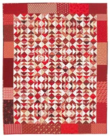 Red Hots Pattern Throws Valentine%27s Day Quilts  American Patchwork & Quilting