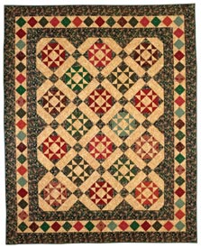 Ohio Star Mosaic Pattern Throws Christmas Quilts  American Patchwork & Quilting