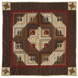 Little House in the Woods Pattern Wall Quilts Winter Quilts  American Patchwork & Quilting