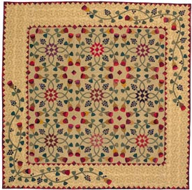 Berries and Buds Pattern Throws Spring Quilts  American Patchwork & Quilting