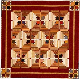 Cabin Cozy Pattern Throws Fall Quilts  American Patchwork & Quilting