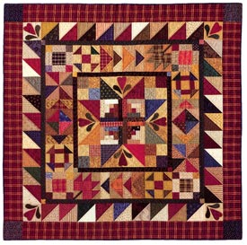 Hearthside Memories Pattern Throws Winter Quilts  American Patchwork & Quilting