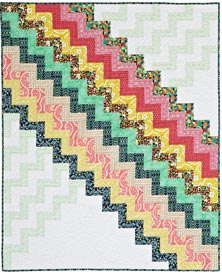 Good Vibrations Pattern Throws   Quilts and More