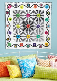 Black, White, & Bright Pattern Wall Quilts Summer Quilts  American Patchwork & Quilting