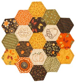 Hex Marks The Spot Pattern Table Toppers Fall Quilts  Quilts and More