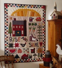 Rise and Shine Pattern Wall Quilts Summer Quilts  Quilt Sampler