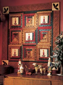 Christmas by Candlelight Pattern Wall Quilts Christmas Quilts  Quilt Sampler