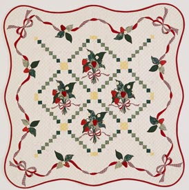 Strawberry Bouquets Pattern Wall Quilts Summer Quilts  Quilt Sampler