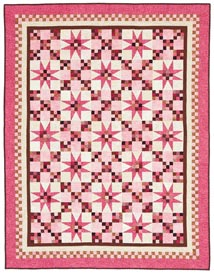 Bubble Gum Stars Pattern Throws   Quilt Sampler