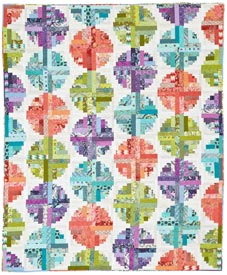 Log Cabin Beads Pattern Throws   Quilt Sampler