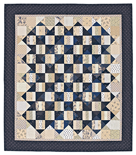 Rhythm & Blues Pattern Throws Winter Quilts  American Patchwork & Quilting