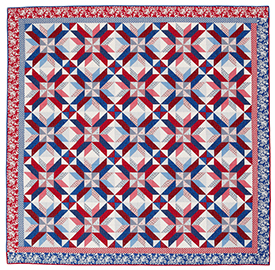 Red, White & Stars Pattern Bed Quilts Fourth of July Quilts  American Patchwork & Quilting