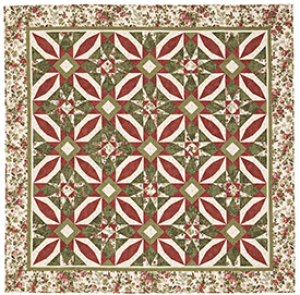 Poinsettia?s Allure Pattern Throws Christmas Quilts  American Patchwork & Quilting