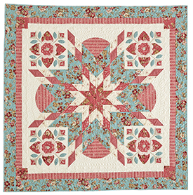 Bursting With Blooms  Pattern Throws   American Patchwork & Quilting