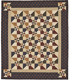 Rustic Stars Pattern Throws Fall Quilts  American Patchwork & Quilting